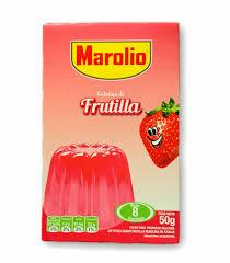 gelatina frutilla marolio